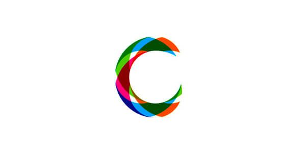 Cをシンボル化したロゴ