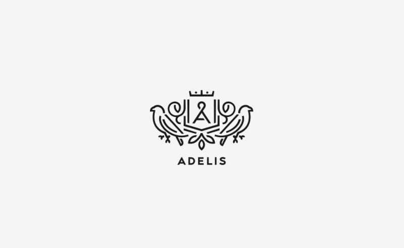 革製品のブランドロゴ