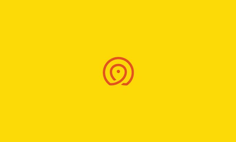 シンプルなラインのロゴ