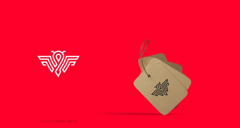 蛾をモチーフにしたロゴデザイン