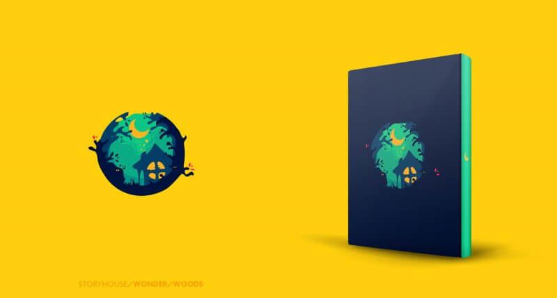 メルヘンな世界観のロゴデザイン
