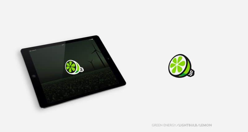 エコな発想力のあるロゴデザイン