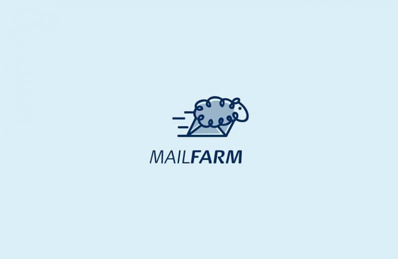 羊とメールを組み合わせたロゴ