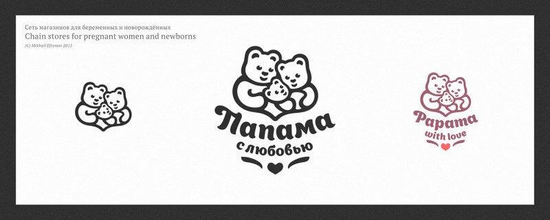 ベビーショップのロゴデザイン
