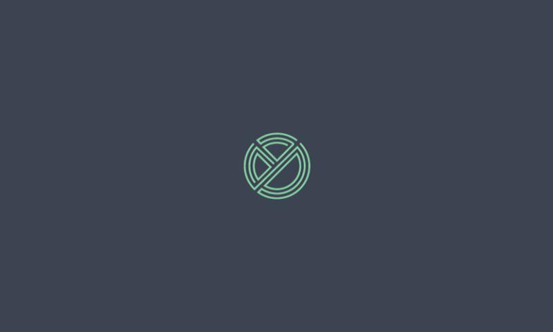 イニシャルモチーフのロゴ