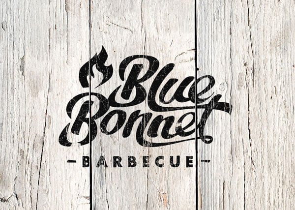 BBQレストランのロゴ