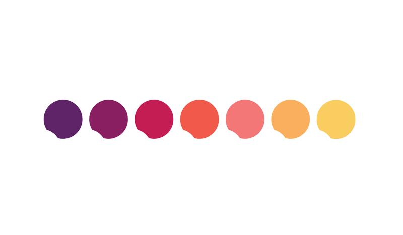 ロゴのカラーチャート