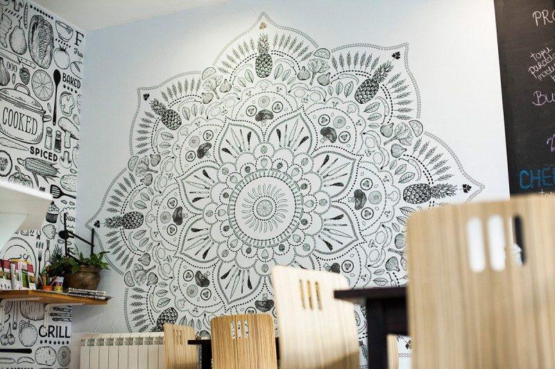 曼荼羅風のデザイン装飾