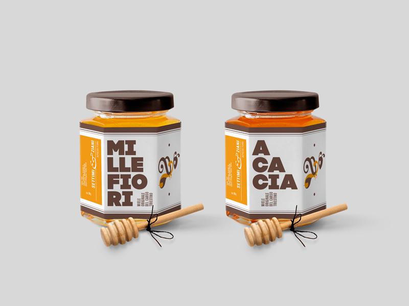 蜂蜜のパッケージデザイン制作例2