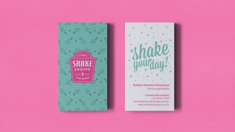 ミルクシェイクショップのカードデザイン