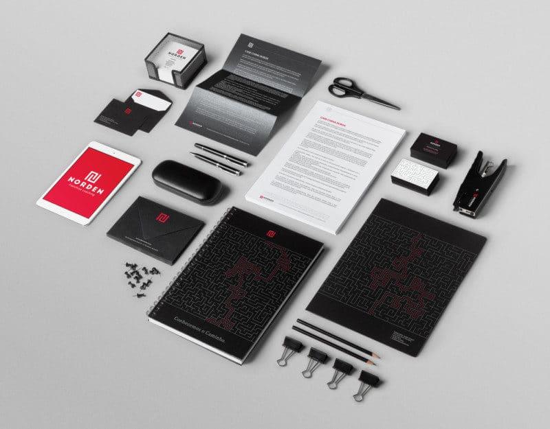 ブランド全体のデザイン例