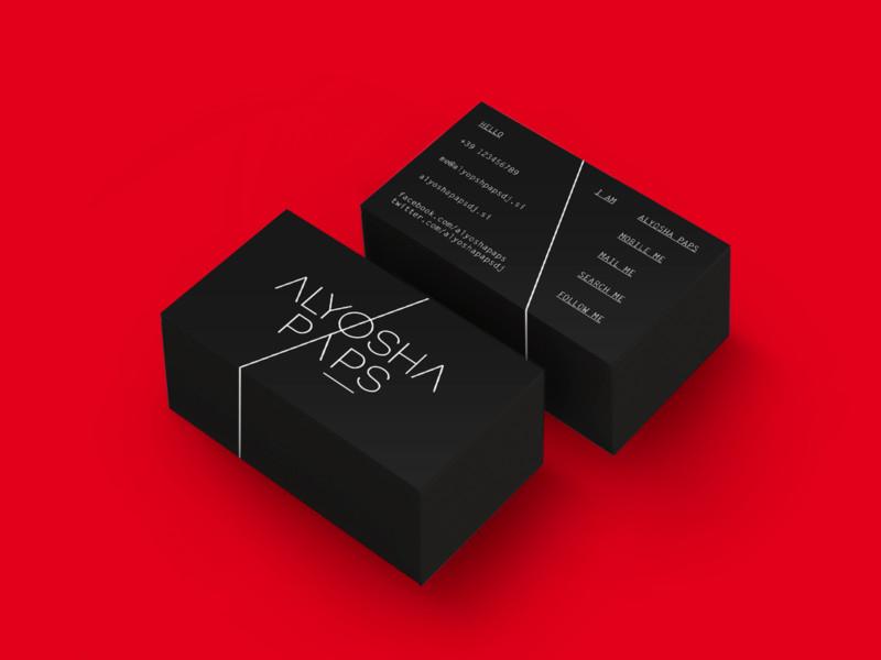 DJの名刺デザイン