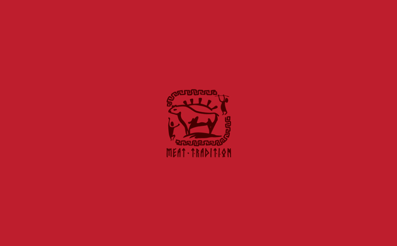 高級加工肉のブランドロゴ作成例