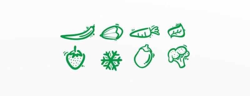野菜イラストのアイコン