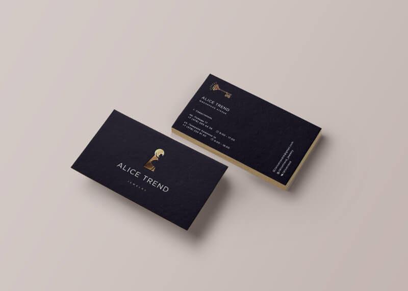 ジュエリーブランドのショップカードデザイン