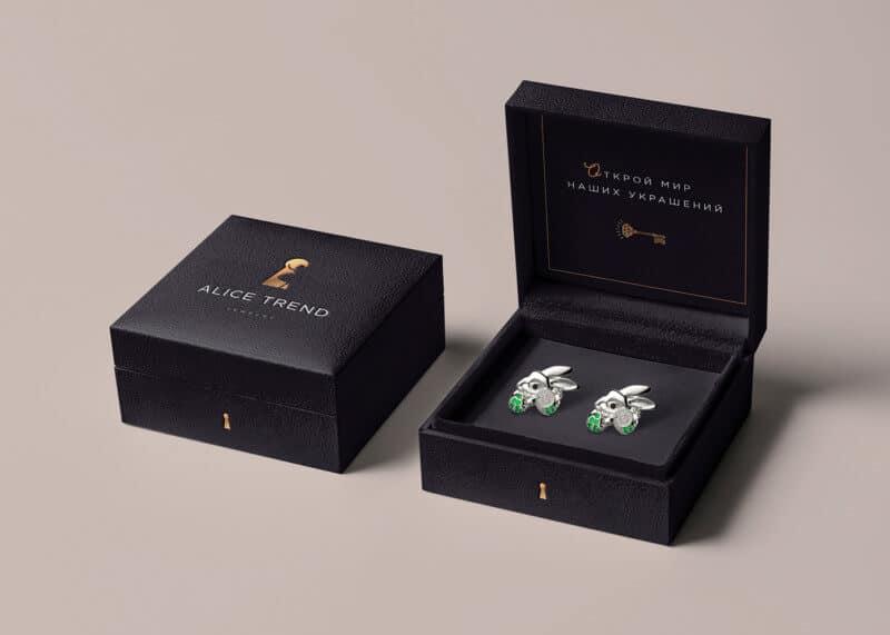 ジュエリーブランドのパッケージデザイン
