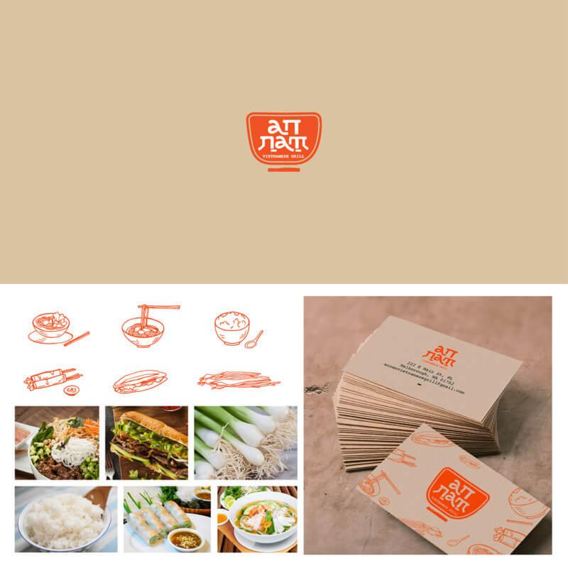 ベトナム料理店のロゴデザイン