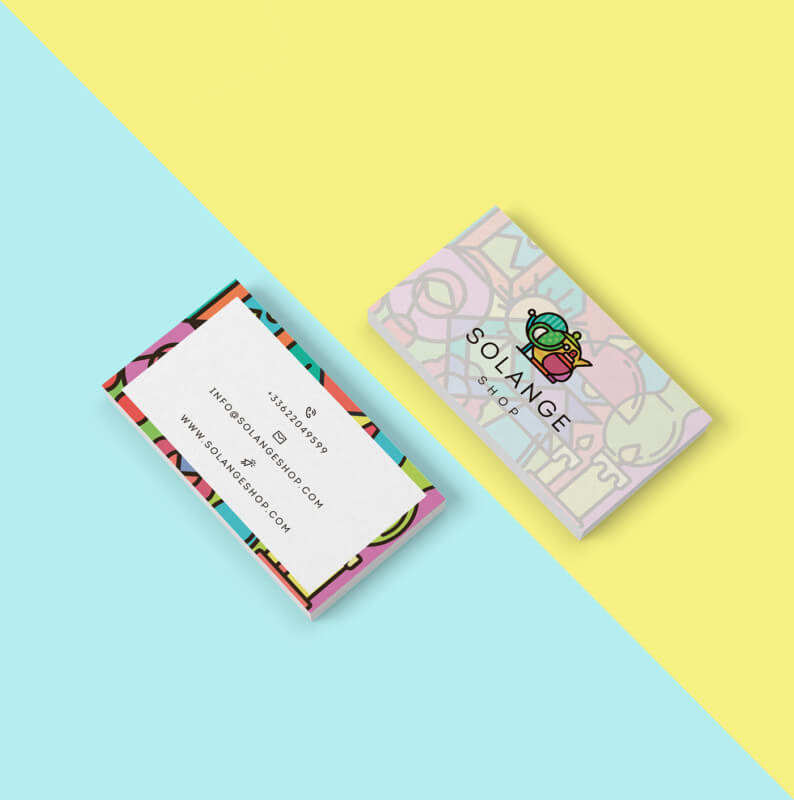 雑貨店のショップカードデザイン