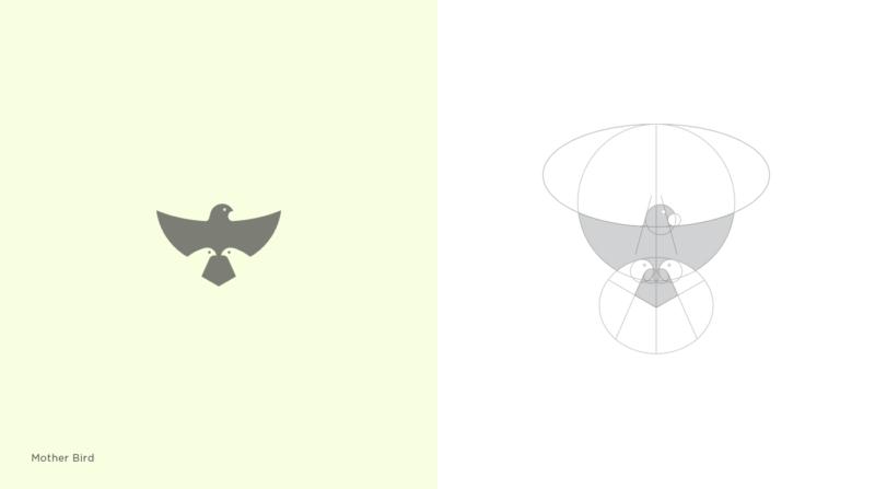 親子の鳥のロゴマーク