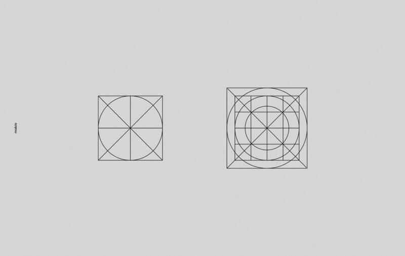 ロゴの土台になるグリッドシステム