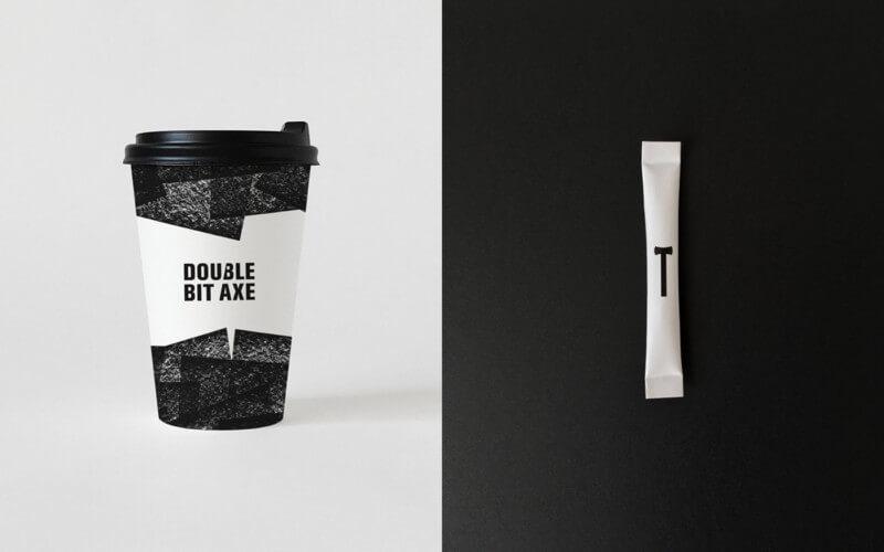 テイクアウト用のカップのデザイン