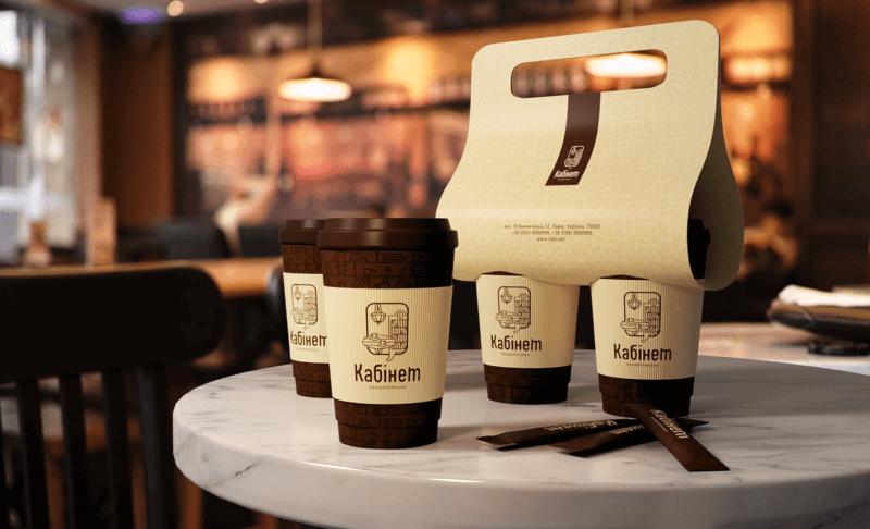 カフェのテイクアウトケースのデザイン