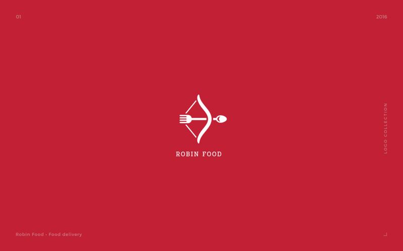フードデリバリー会社のロゴデザイン
