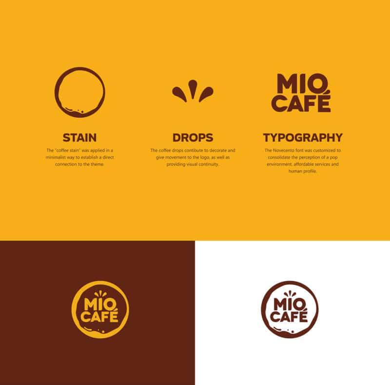 カフェのロゴデザイン