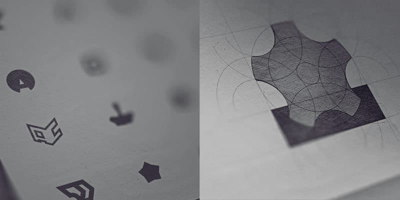 メーカーの工具モチーフのロゴデザイン