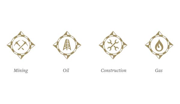 資源採掘企業のロゴデザイン2