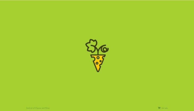 チーズワインフェスのロゴデザイン