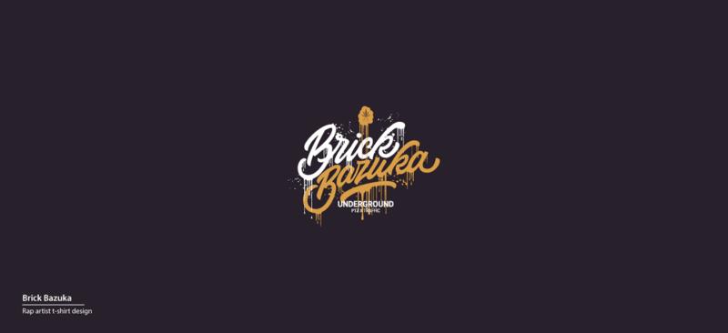 ラッパーのロゴデザイン制作例
