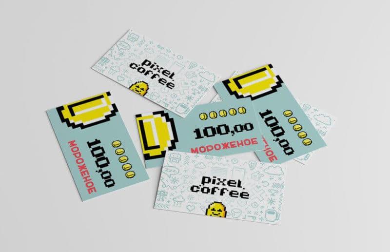 コーヒーショップのカードデザイン