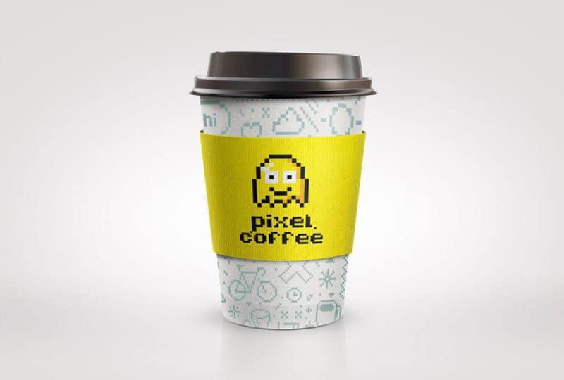 コーヒーショップのカップデザイン