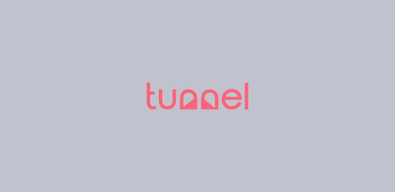 トンネルを表現したロゴデザイン