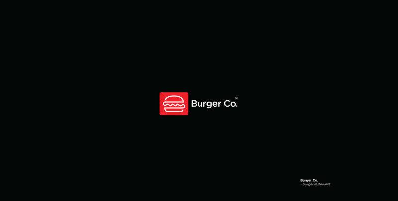 バーガーレストランのロゴ