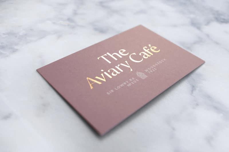 カフェのショップカードデザイン表
