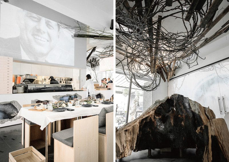 カフェの内装デザイン1