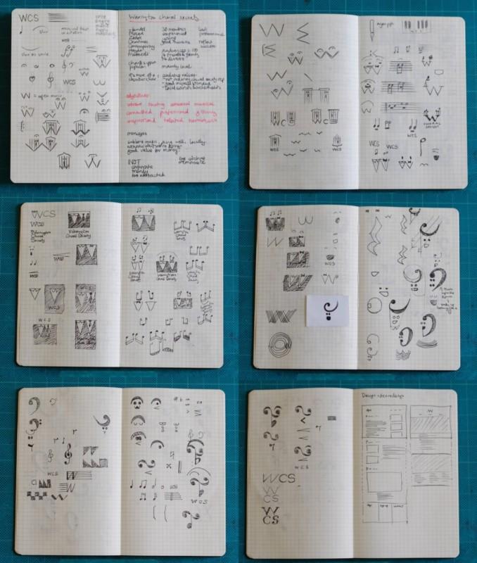 ロゴデザインのスケッチ