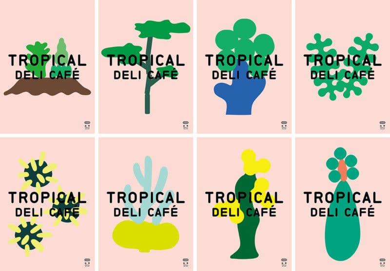 カフェのシンボルデザイン