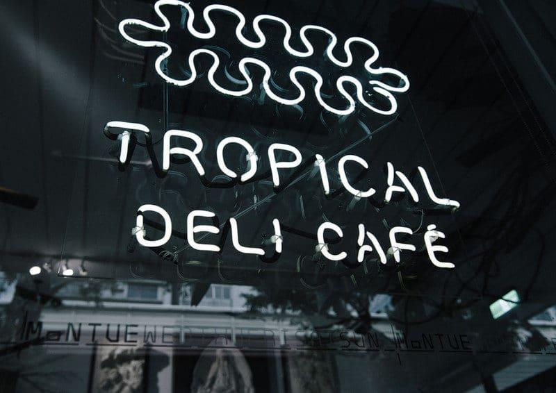 カフェのロゴ、看板デザイン