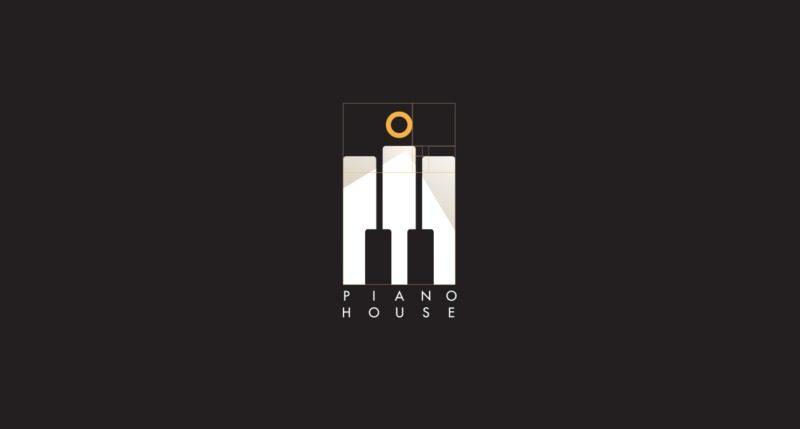 ピアノバーのロゴ制作プロセス1