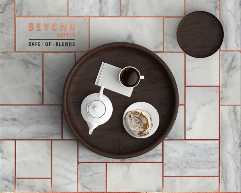 アラビアコーヒーのカフェのロゴデザイン