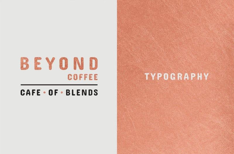 カフェのタイポグラフィ