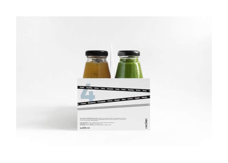 シンプルなジュースのパッケージデザイン2