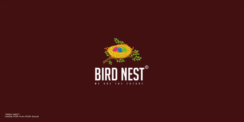 鳥の巣がモチーづのロゴ