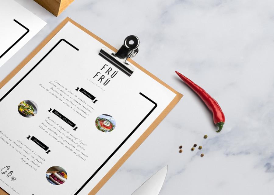 レストランのメニューのデザイン