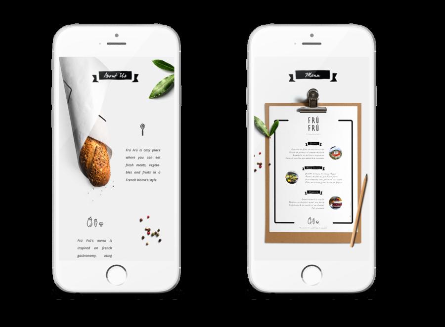 イタリアンレストランのWEBデザイン2