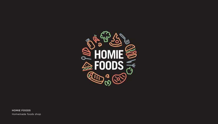家庭料理を販売する店のロゴ