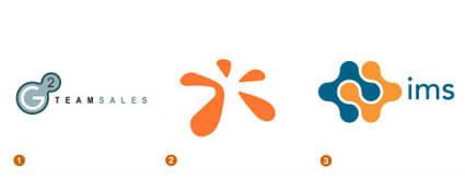 しずくをイメージしたロゴ達